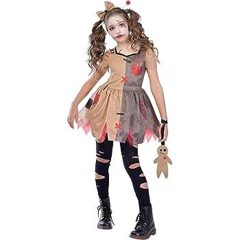 El Rey del Carnaval Disfraz de Muñeca Diabólica para niña: Amazon ...