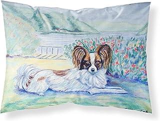 Caroline's Treasures 7244PILLOWCASE Papillion Moisture Wicking Fabric Standard Pillowcase, Large, Multicolor
