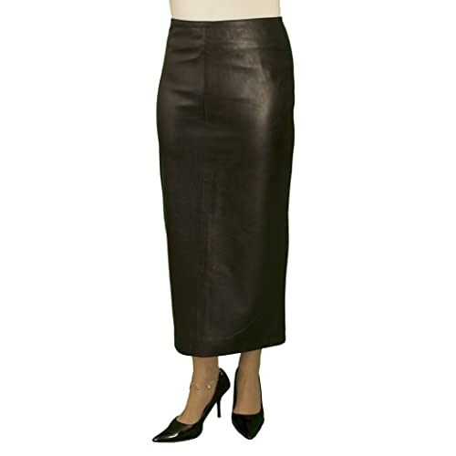 b1beba17813f Ashwood for Tout Ensemble Black Luxury Leather Midi Pencil Skirt