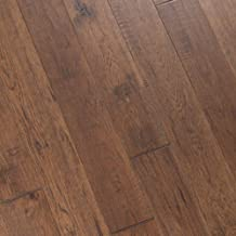 Hickory Hand Scraped Prefinished Engineered Wood Flooring, Forest, Sample, by Hurst Hardwoods
