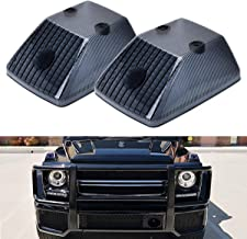 iJDMTOY Gloss Black Front Turn Signal Lamp Lenses For 1986-18 Mercedes W463 G-Class G500 G550 G55 G63 G65, (2) Smoked OE-Spec Replacement