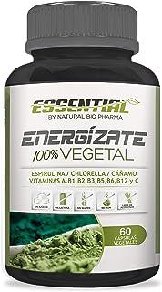 Multivitaminas 100% Vegetal con Espirulina + Chlorella + Vitaminas A, B1, B2, B3, B5, B6, B12 y C – Protege y Fortalece tus Defensas – Aporta Energía y vitalidad – 60 caps. Vegetales.