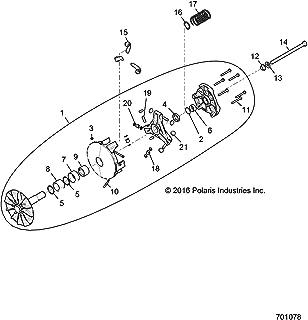 Polaris Drive Clutch Basic 31mm Assembly, Genuine OEM Part 1323068, Qty 1