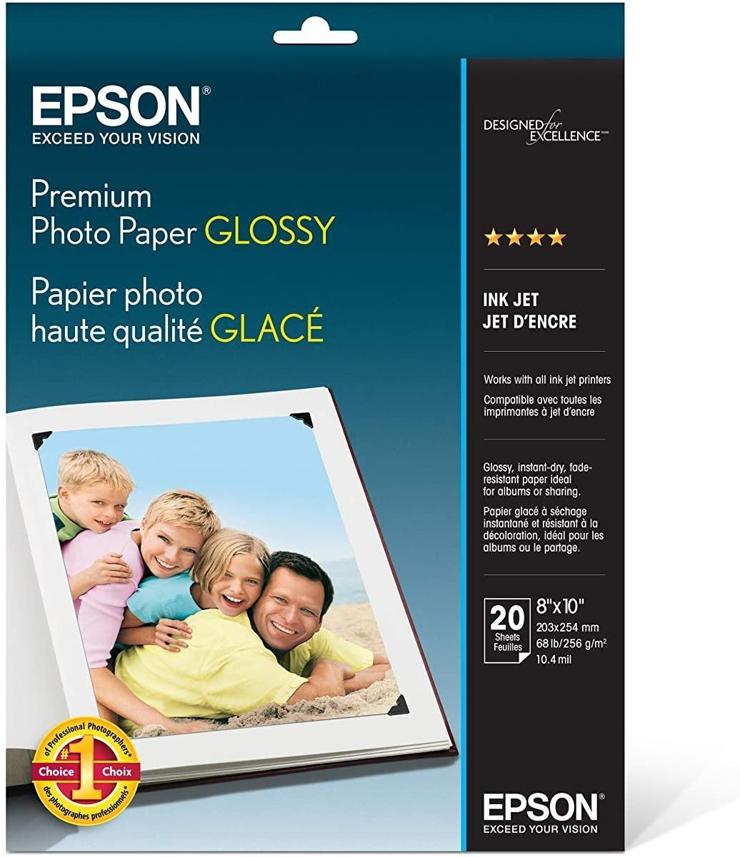 Epson Premium Photo Paper GLOSSY Max 76% OFF Sheets shopping S0414 Inches 20 8x10