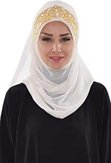 Shawl for Women Chiffon Modesty Turban Cap Hat Head Wrap Instant Scarf