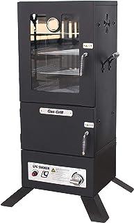 ALEKO Vertical Offset BBQ Glass Door Gas Smoker with Temperature Gauge - Black