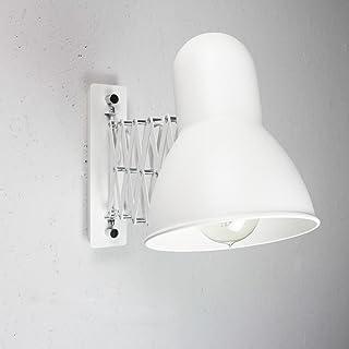 Aplique flexible extensible en blanco E27 Aplique vintage apliques de pared pared pared salón dormitorio cocina iluminación lámpara interior