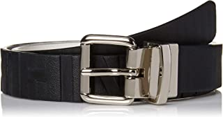 Calvin Klein Boys' Big Reversible Belt with Embossed Lines