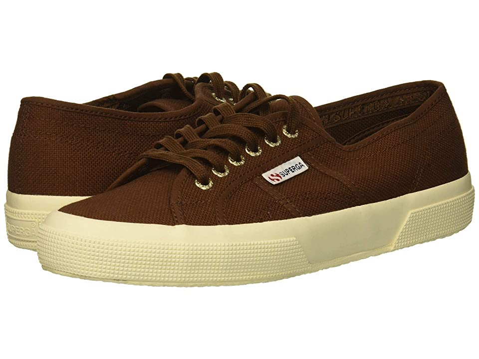 Superga 2750 COTU Classic Sneaker (Brown/Off-White) Lace up casual Shoes
