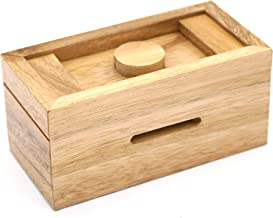 A Gift Cash Box with Secret Compartments in Designs of Wood for Money Puzzle Gift Boxes to be a Surprise Money Wooden Box Holder and Challenging Puzzle Brain Teasers for Adults and Kids