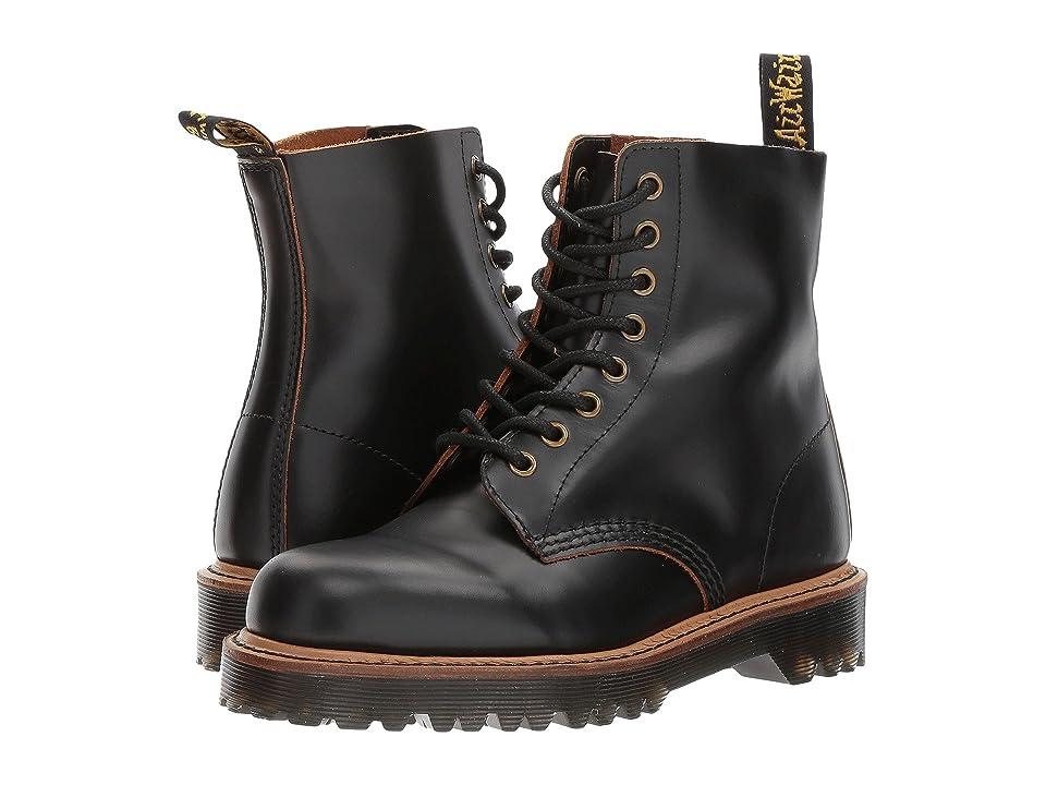 Dr. Martens Pascal II 8-Eye Boot (Black Vintage Smooth) Women