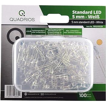 10 Stück LED 5mm weißLED weiß ArduinoLED white 5mmLEDLED 5mm