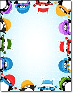 Winter Penguin Border Stationery - 80 Sheets