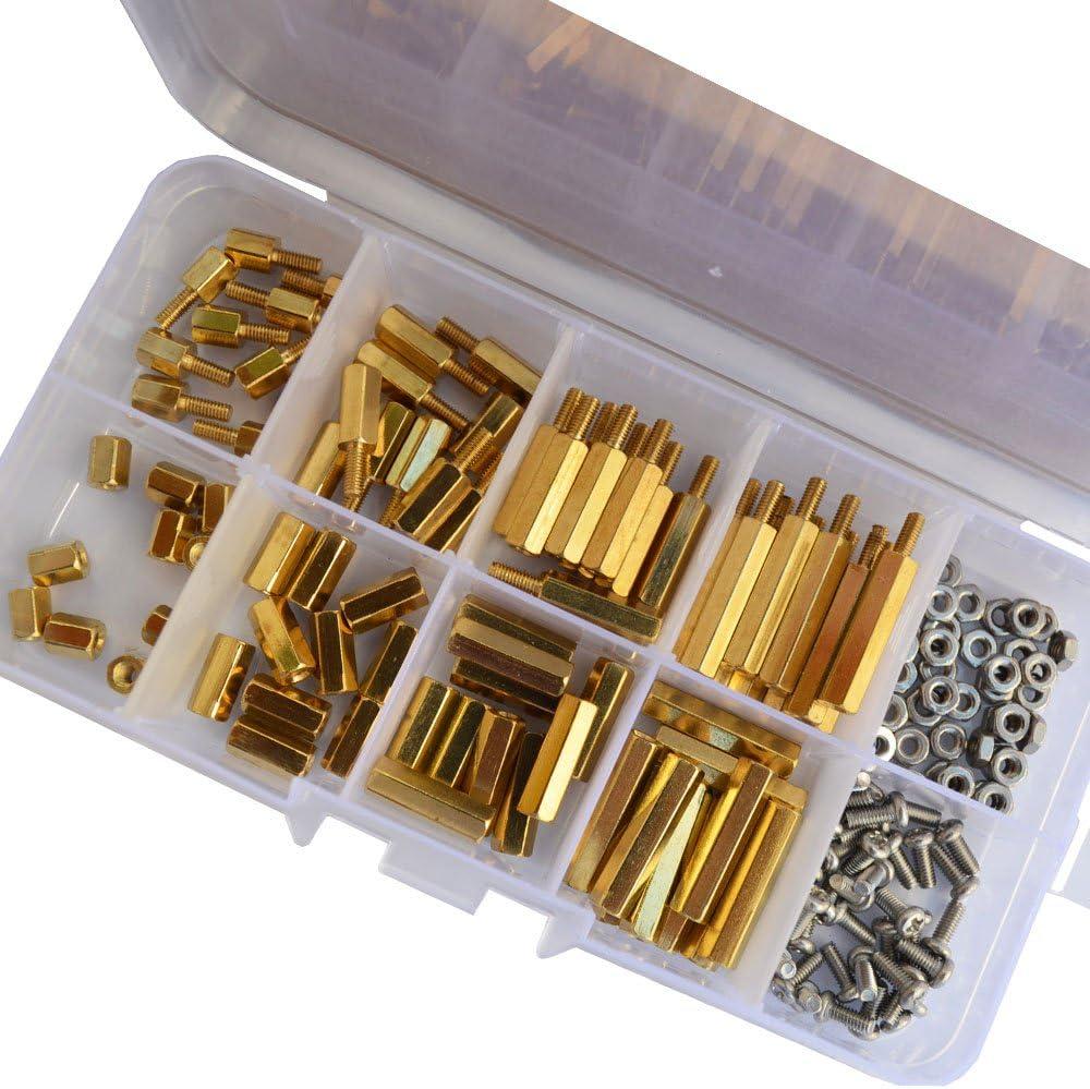 Screw M3 Male x M3 Female Brass Motherboard Standoff Washer 36 PCS