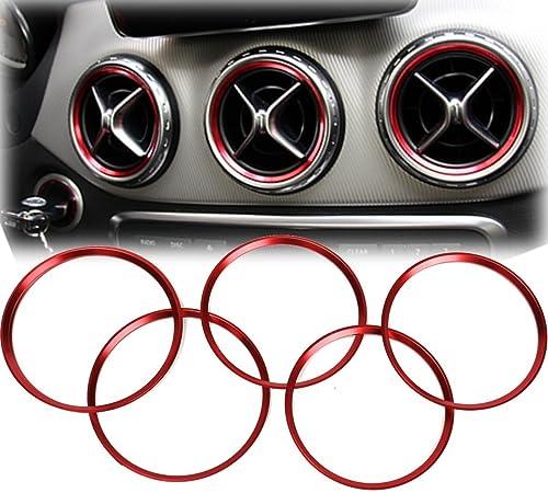 Alamor 5Pcs Bague Décorative De Sortie d'air pour Mercedes Benz A Classe A180 A200 A250 W176