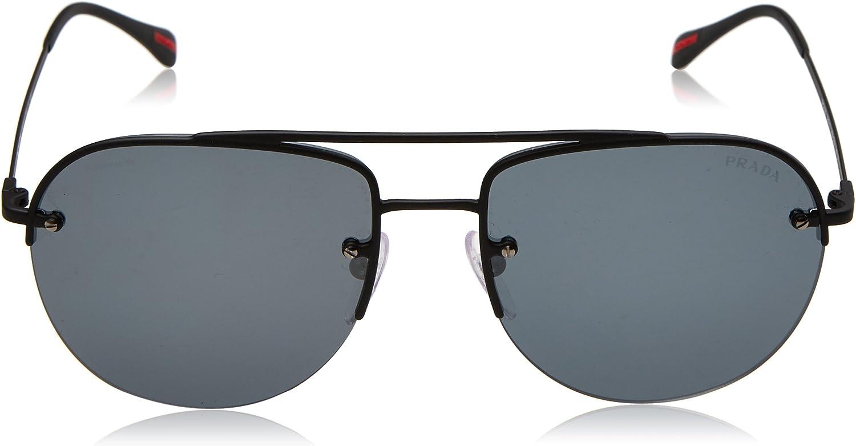 Prada Sport Sonnenbrille (PS 53SS) Noir (Black Rubber/Greymirrorblack)