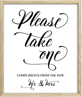 Please Take One Sign, Wedding Favors Sign, Party Print, Compliments From the New Mr. & Mrs. Favor Sign Party Decor