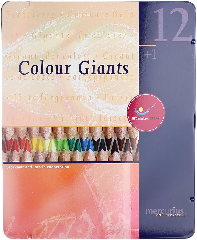 buena calidad Mercurius AMS Color Giant Pencils, Set of of of 12 in Tin Case by Mercurius  ahorre 60% de descuento