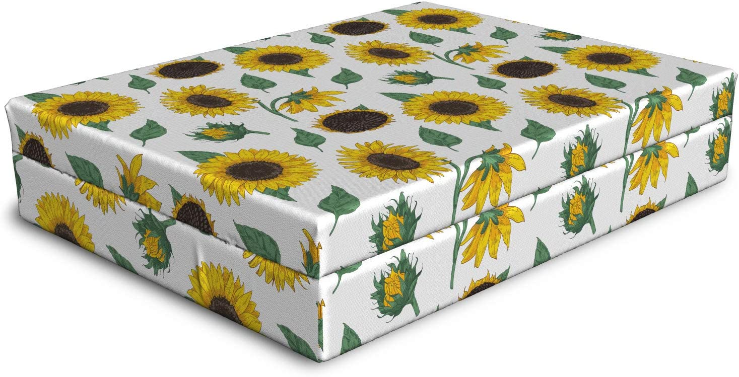 Ambesonne Sunflower Dog Bed Insp Agricultural Pattern All items Store in the store Botanical
