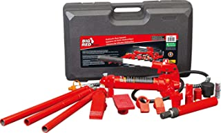 BIG RED T70401S Torin Portable Hydraulic Ram: Auto Body Frame Repair Kit with Blow Mold Carrying Storage Case, 4 Ton (8,000 lb) Capacity, Red