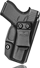 Glock 43 Holster IWB Kydex Holster for Glock 43/43X Concealed Carry Holster Belt Clip Inside The Waistband G43 G43x 9mm Gu...