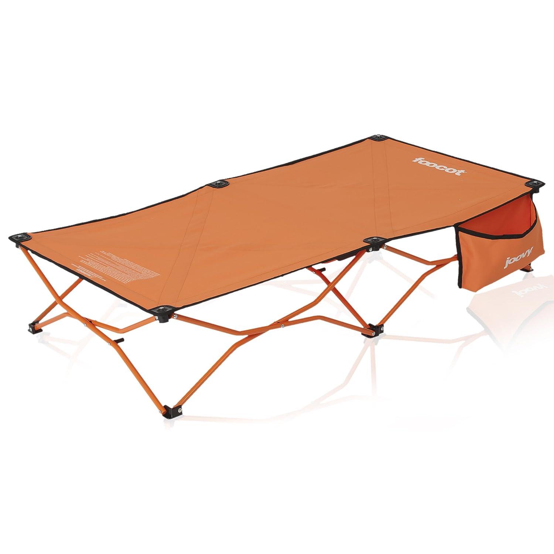 Joovy Foocot Child Travel Cot, Portable Toddler Bed, Orange