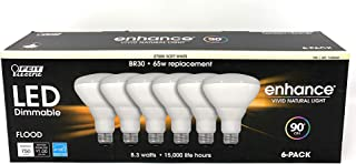 Feit 65W Equivalent Soft White BR30 Dimmable Enhance LED Light Bulb (6-Pack)