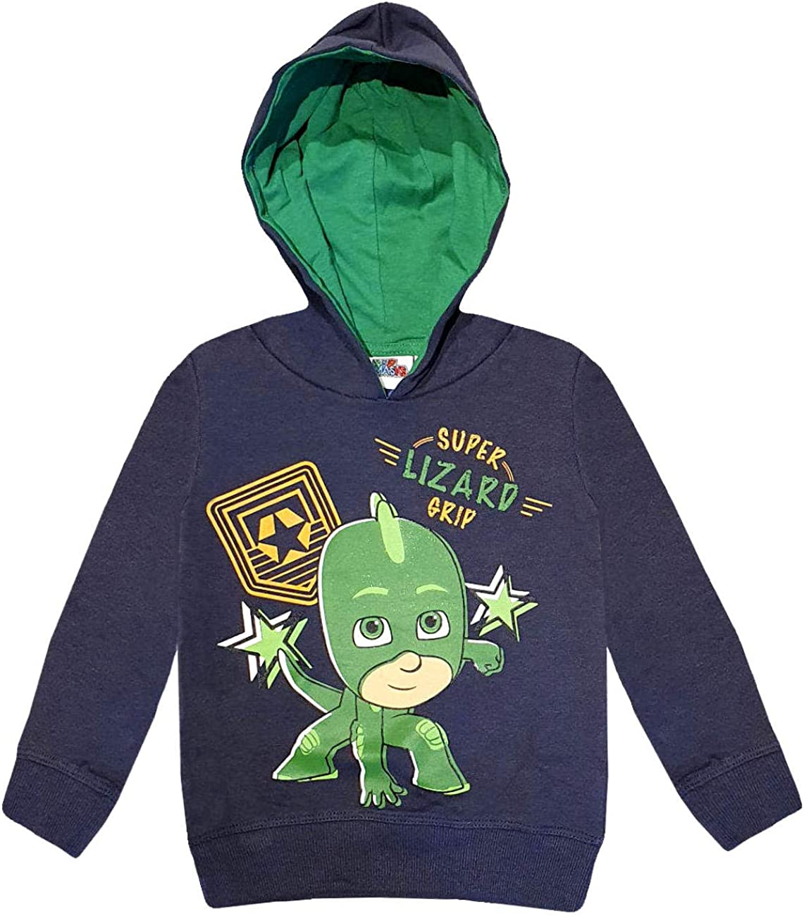 PJ Masks Boys (2-8) Hoodie Sweatshirt Gekko Super Lizard Grip - Grey - 6 Years