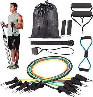 comprar comparacion Resistance Bands Correas Set Workout Bands 12 pcs - 5 Fitness Bandas Elasticas en Látex,1 Yoga Exercise Band 8 forma,Ancla...