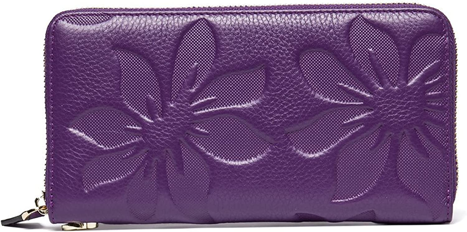 TraderPlus Women RFID Blocking Clutch Wallet Leather Purse Credit Card Holder