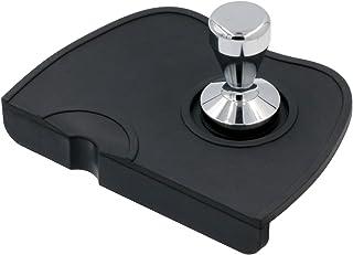 Tamper Mat Coffee Silicone Mat Expresso tampering mat Coffee Tamper Station Anti-Slip Mat Barista Tool Tamp Pad Black Mat