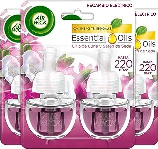 Air Wick Eléctrico - Recambios de ambientador automático eléctrico, esencia para casa con aroma a Lirio de Luna y Satén de...