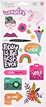 American Crafts Shimelle Glitter Girl 47 Piece 6 x 12 Inch Sticker Sheet Foil