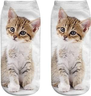 QueenMM Funny Novelty Socks for Men Women Cute Dog 3D Print Cotton Low Cut Comfort Socks