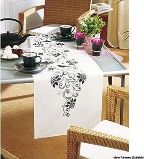 Vervaco PartnerTischläufer Elegant Stickpackung/Läufer im vorgedruckten/vorgezeichneten Kreuzstich, Baumwolle, Mehrfarbig, 38 x 142 x 0.3 cm