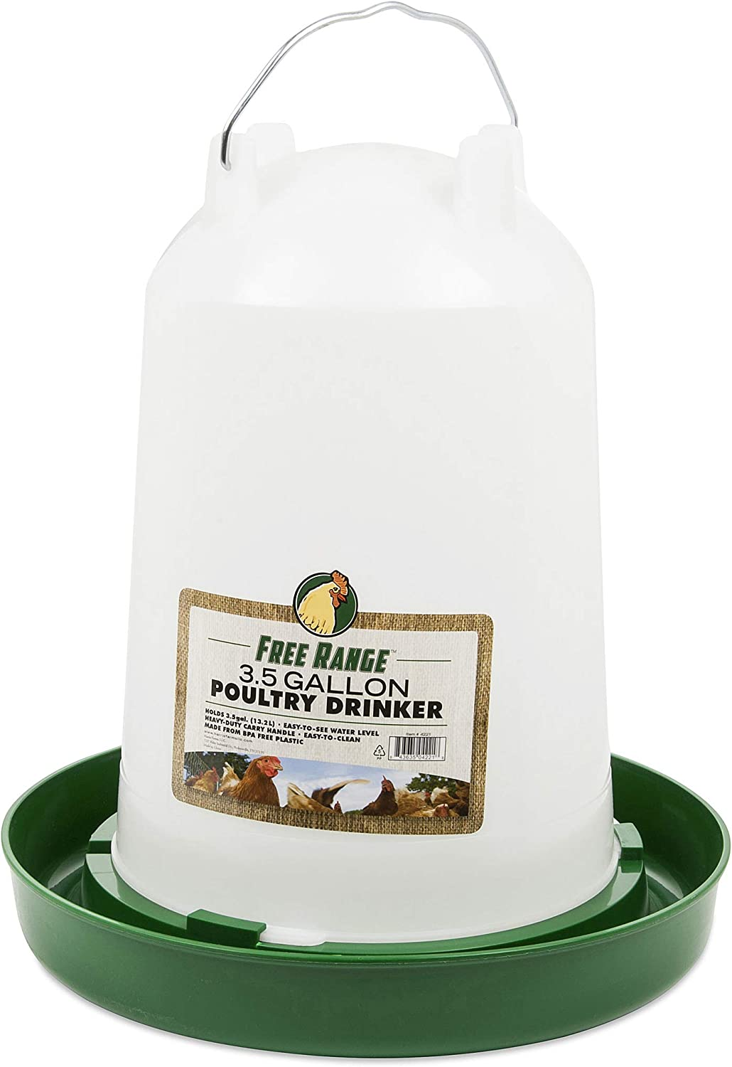 Harris Farms Hanging Poultry 3.5 Drinker Max 75% OFF Free Shipping Cheap Bargain Gift Gallon