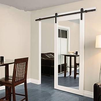 Juego de rieles de puerta corredera, Moderno armarios deslizantes para puertas de granero, unidad de sistema de rieles para puerta de madera simple: Amazon.es ...
