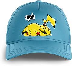 Okiwoki Casquette Enfant Noire Parodie Pokémon - Pikachu - Batterie à Plat !(Casquette de qualité supérieure - imprimé en...