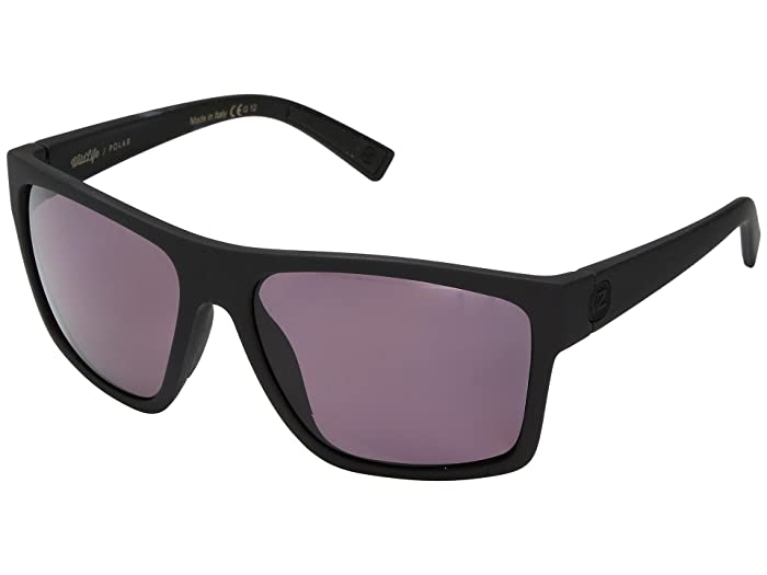 VonZipper Dipstick Polar (Black Satin/Wild Rose Polar) Sport Sunglasses