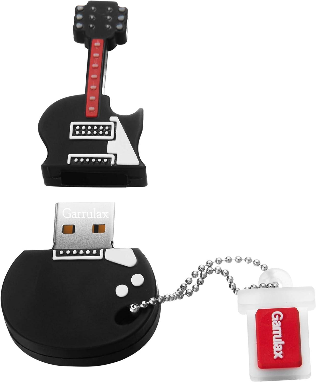 GARRULAX USB Flash Drive, 8GB / 16GB / 32GB USB2.0 Cute Shape USB Memory Stick Date Storage Pendrive Thumb Drives (32GB, Mini Guitar)
