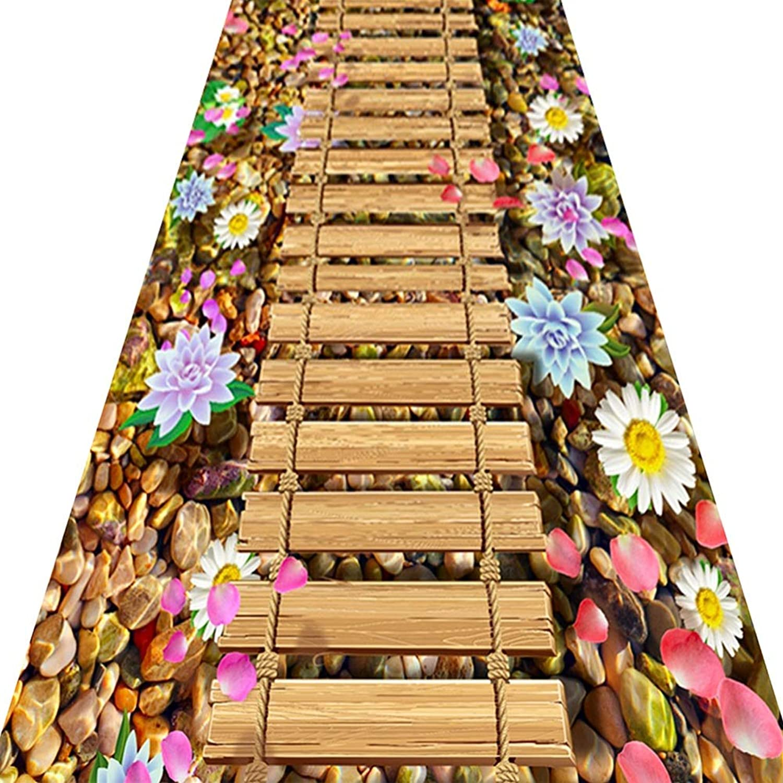 hasta 60% de descuento ZENGAI Alfombras Alfombras Alfombras Corrojoores Pasillo Entrada Estilo Pastoral Habitación Sala Decoración Hogarea Alfombra Cuidado Facil, Personalizable (Color   B, Tamao   0.6x3m)  comprar mejor