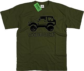 Motorholics Funda de Samurai T-Costura para Camisas de Mujer de Hombre de Piel de