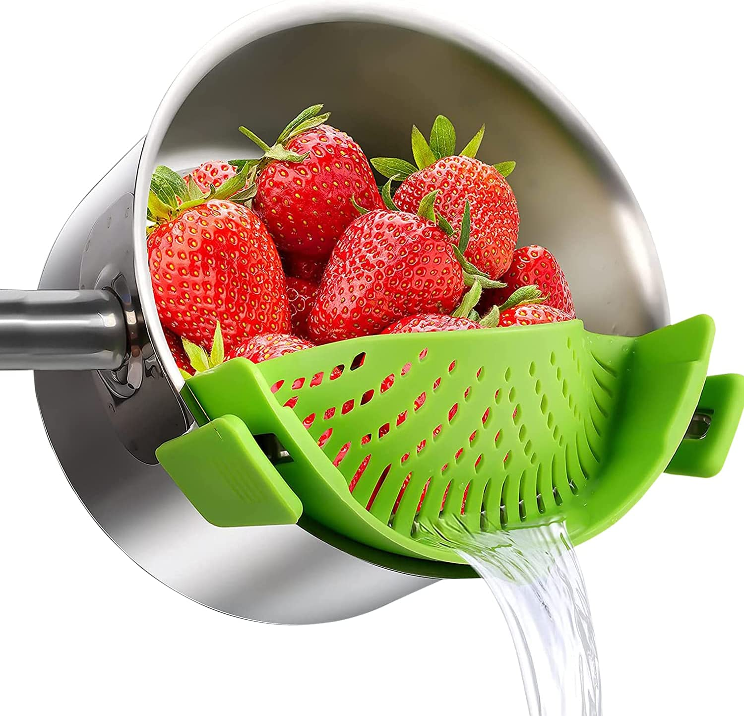 Silicone Food Strainer Clip on Now free shipping Pots Max 51% OFF Stra Pan Pasta for
