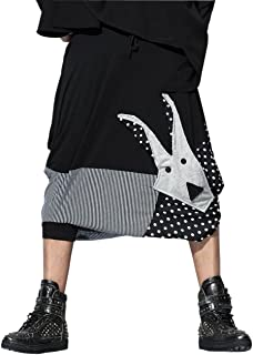 Men Casual Black Loose Baggy Elastic Waist Harem Pants Trousers GYM22 A
