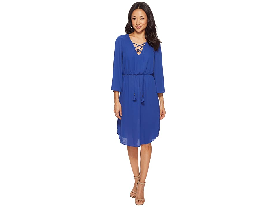 American Rose Abigail Lace-Up Dress (Royal) Women
