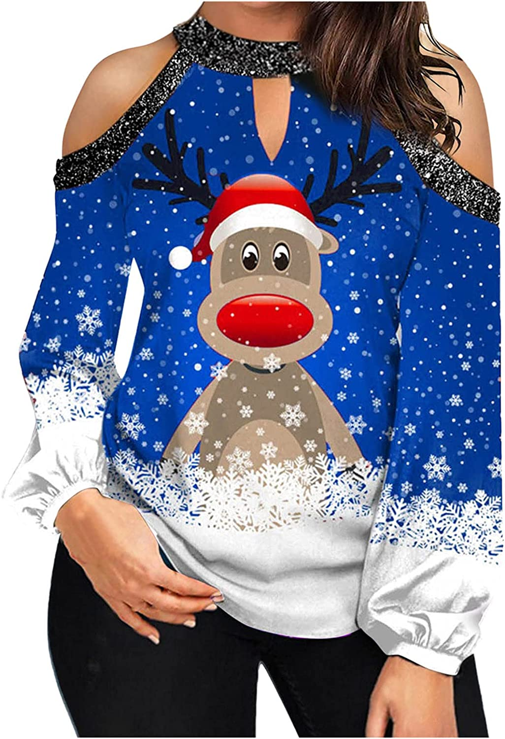 BCDlily Industry No. 1 Women Christmas Shirts Xmas Tops Graphi Shipping included Sleeve Cute Long