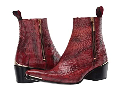 Jeffery-West Double Metal Zip Boot Sylvian (Red) Women