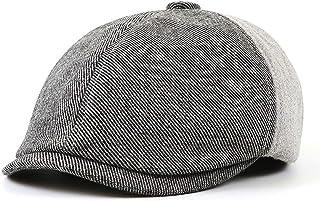 Leiouser czapka z daszkiem, kobiety mężczyźni jesienny malarz kaczka beret czapka kolorowy blok patchwork na zewnątrz mies...