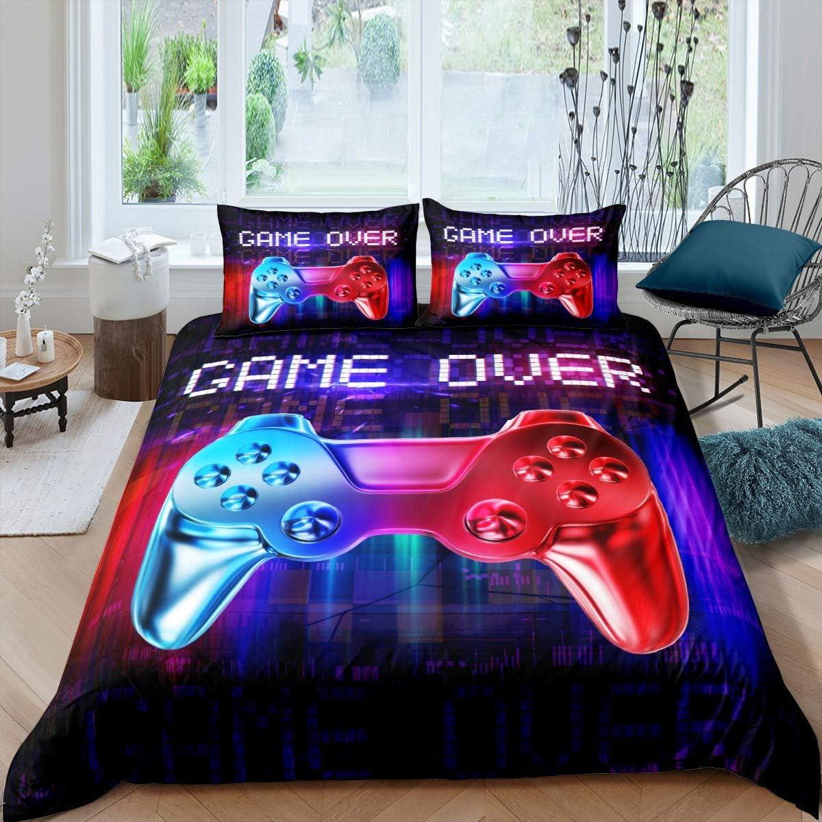 Feelyou Gaming Bedding Set Kids Boys Gamer 直営店 Duvet Cover Games スーパーセール期間限定 Com