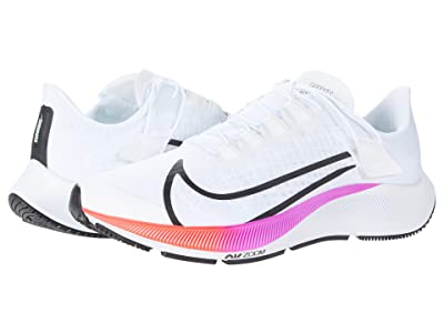 Nike FlyEase Air Zoom Pegasus 37 (White/Flash Crimson) Men